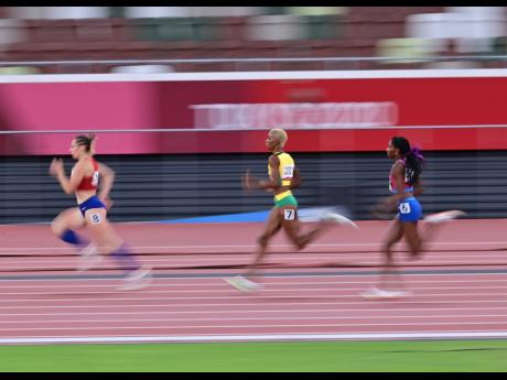 Candice McLeod competing in the 400m semi-finals at the Tokyo 2020 Olympics Games on Wednesday.