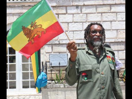 Ika Tafara of the Rastafari Coral Gardens Benevolent Society.
