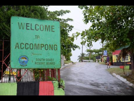 The entrance to Accompong Town in St Elizabeth.