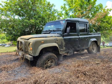 What is an off roading event without a Land Rover Defender.