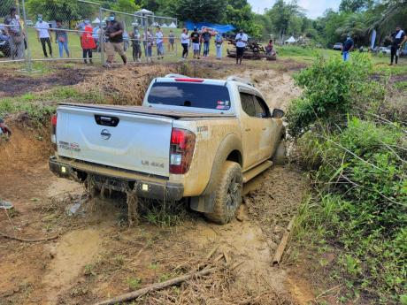 The Nissan Navara was ready to take on the challenge at every turn.