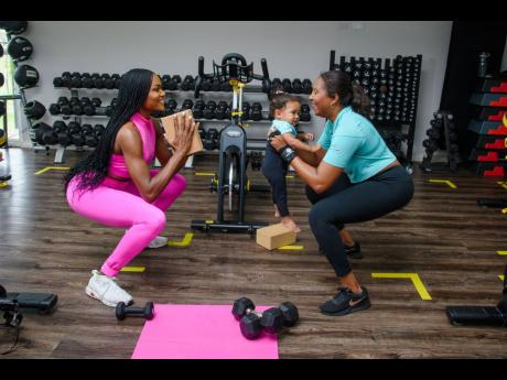 Debbie Hall puts her fitness training and expertise into play as she entertains a little one, Vanna Grace, while getting Jessica Johnson into her best shape.Debbie Hall puts her fitness training and expertise into play as she entertains a little one, Vanna