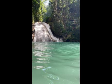 Perfect spot to cool off in the summer - photo taken at at Blue Hole, St. Ann .