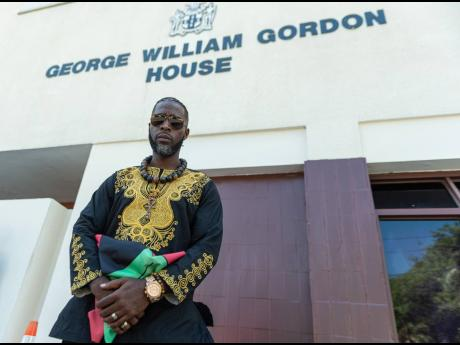 Accompong Chief Richard Currie, seen here at the seat of parliamentary power, Gordon House, has challenged the authority of the Jamaican State in administering law on Maroon lands.