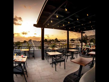 The view during sunset at Chez Maria is breathtaking!
