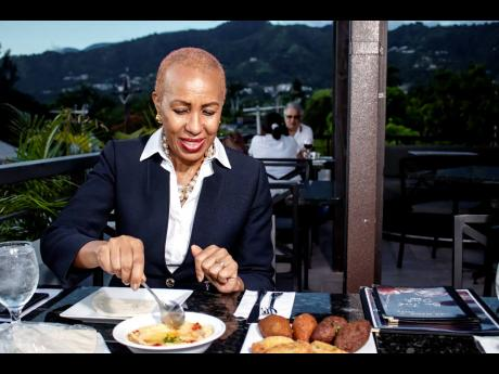 Fayval Williams sampled Chez Maria's Mezza platter with hummus, beef and chicken kibbeh, beef sambousik, and cheese rolls served with fresh pita bread.