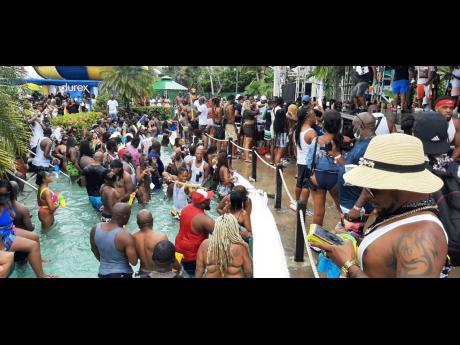 Scene from one of the events at the recently held Dream Weekend party in Negril.