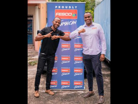 Matthew Johnson (left) and Jeremy Barnes, managing directors of Mr Breakfast and Future Energy Source Company Limited (FESCO), respectively, get ready to embark on their new venture, Mr Breakfast To-Go.
