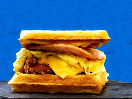 Chef Matthew Johnson likes to get creative with his waffles, and one way he steps away from boring is with the waffle sandwiches. From egg, cheese and ham to chicken, he turns breakfast up to another level.