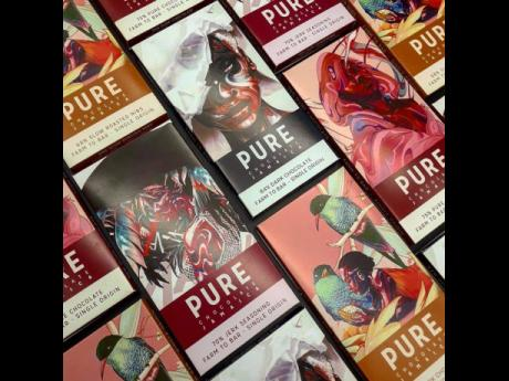 Pure Chocolate produces a range of premium-quality chocolate products, including a flavoured line of chocolates that represent flavours of Jamaica, including cinnamon, coconut, lemongrass, coffee, and jerk seasoning.