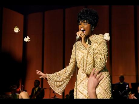 Jennifer Hudson in a scene from 'Respect', which features the most famous of Aretha Franklin's catalogue.