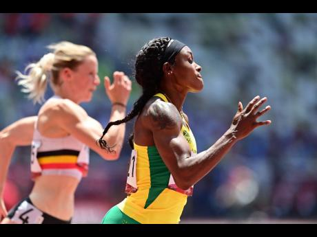 Elaine Thompson Herah competing in the Women's 200m First Round heats at the Olympic Games in Tokyo, Japan, on Monday, August 2.