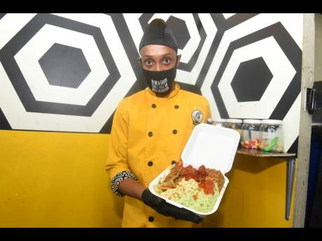 Meals prepared by Premier Kitchen and Caterers for distribution included cucumber basil rice, fire cracker chicken, calypso pasta and sautéed market vegetables.