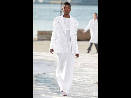 It's all about the strut for SAINT's Barbra-Lee, who was honoured to be rocking an all-white design by Peter Do.