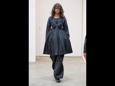 Barbra-Lee 'jaminated' this year's New York Fashion Week in all-black couture from CDLM.