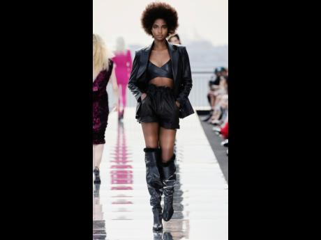 Back in black, it's big-deal business for Tami Williams, who walked for the Dundas x REVOLVE collection not once, but twice.
