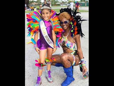 Little Miss Miami Broward Carnival Queen from 2018 to 2020 Peytience McClendon (left) and the 2019 Miss Miami Broward Carnival Queen Tatyanna Brown.