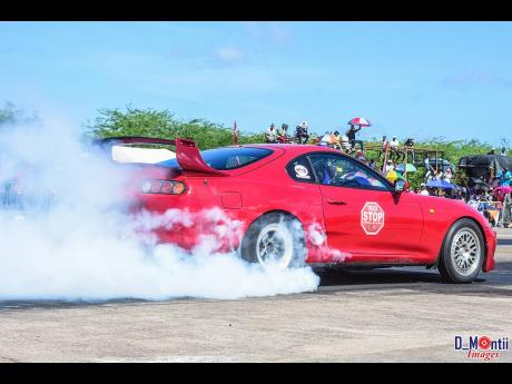 The 'Truck Stop' Supra not only had a beautiful burnout, but also a fast time.