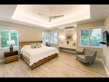 The primary bedroom is light and lifts your spirit.