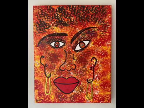 Always embracing different sizes, she honoured that universal love by painting 'Beauty in Diversity'.