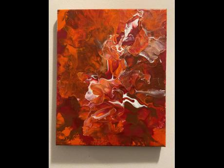 Resonating in elegance and grace, Khulula recently debuted her first abstract painting.