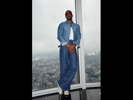 Fashion designer LaQuan Smith participates in a New York Fashion Week kickoff event at the Empire State Building last Thursday.