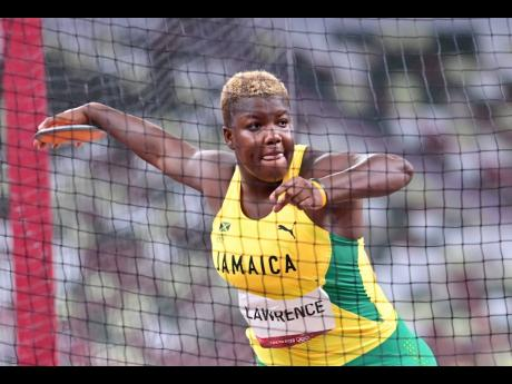 National discus thrower Shadae Lawrence in action at the Olympic Games in Tokyo, Japan, on Monday, August 2.