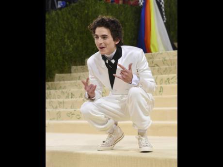 Timothee Chalamet attends The Metropolitan Museum of Art's Costume Institute benefit gala.