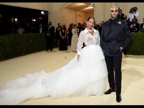 Alicia Keys (left), and Swizz Beatz attend The Metropolitan Museum of Art's Costume Institute benefit gala.