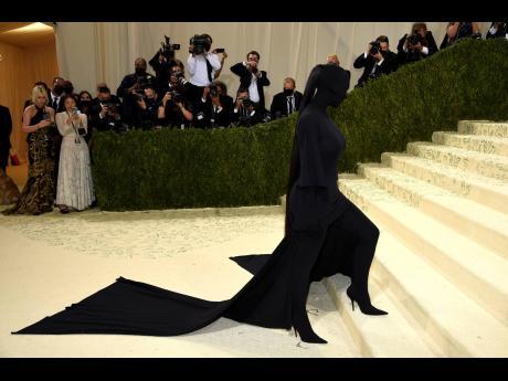 Kim Kardashian donned Balenciaga at The Metropolitan Museum of Art's Costume Institute benefit gala.