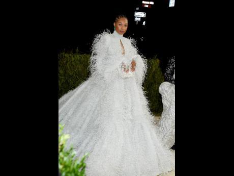 Allyson Felix wore Fendi Couture.
