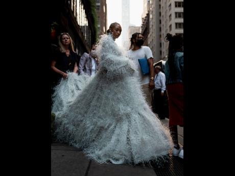 Allyson Felix made a stunning red-carpet début at The Metropolitan Museum of Art's annual gala.