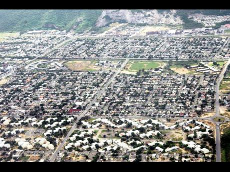Aerial view of sections of Portmore.