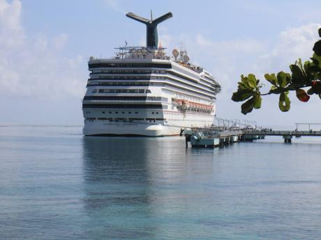 In this file photo Carnival Sunrise cruise ship is seen arriving at the Ocho Rios Cruise Ship Port.
