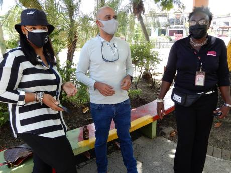 From left: Kimberley Stiff, assistant vice-president of marketing communications, Port Authority of Jamaica; John Byles, chairman of the Resilience Corridor; and Sharon Williams of the Jamaica Tourist Board in discussion.