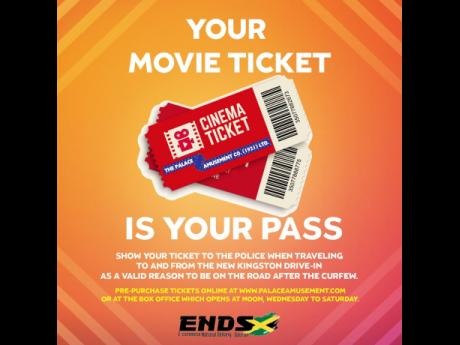 At the drive-in, your movie ticket is your pass.