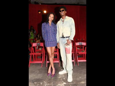 Serving style at its fiercest off the runway is model, Selah Marley (left), alongside American singer, Lucky Daye.