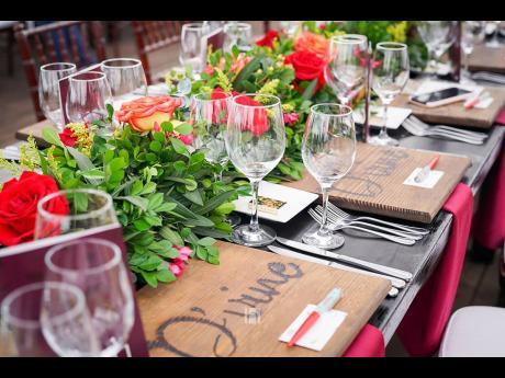 The idyllic setting at the 2019 JFDF's Wine Dinner, D'Vine.