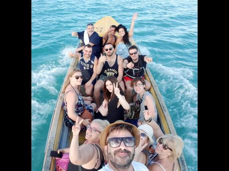 Guests from Switzerland and Italy enjoy local excursions courtesy of Ease N Sekkle Yaad.