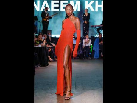 Indian-American designer Naeem Khan brought colour, class and beauty to the runway, and Shena Moulton did not disappoint.