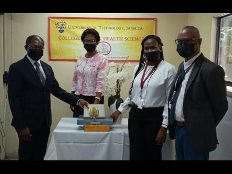 Sample X-ray and dental education materials, which will aid greatly in improving the quality of module delivery to the students of the College of Oral Health Sciences were donated to the University of Technology, Jamaica on August 16 by Dr Doryck Boyd, for