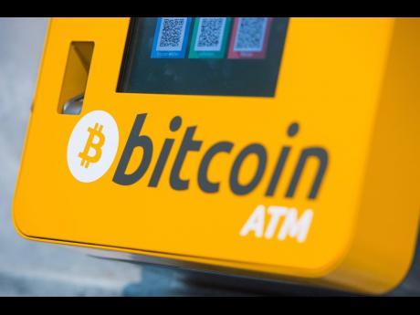 An image of a  Bitcoin ATM