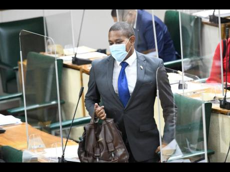 Floyd Green arriving at Parliament hours after his resignation as minister of agriculture and fisheries on Wednesday.  Floyd appears to be a respectable man with good work ethic, and clearly his work speaks for him. Hopefully, he'll make a good comeback.
