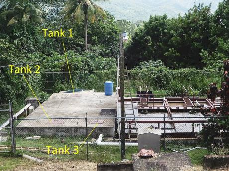 Septic tanks at Moneague College in St Ann. The three workers who died after a noxious fumes tragedy on September 6 reportedly entered Tank 3.
