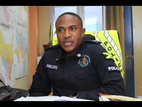 Superintendent Christopher Phillips, head of the St Catherine South Police Division.