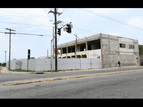 New construction under way on East Queen Street, Kingston, in this July 28, 2021, photograph.