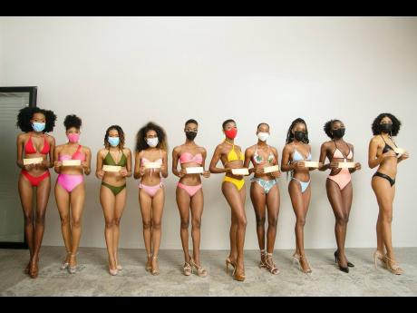 From left: Kimmarie Spence, Thalia Malcolm, Francine Grant, Titania Mycko, Keronica Lewis, Kaydean Sterling, Avery Campbell, Aaliyah Barnett, Lincia Haughton and Lauren Less were the 10 selected from the face-to-face eliminations.