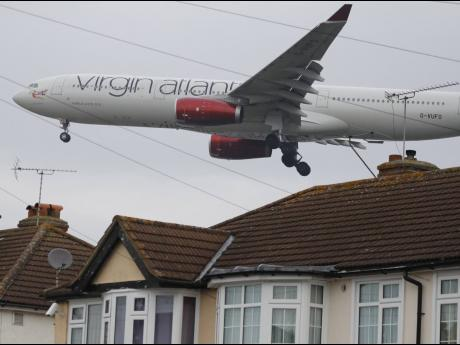 A Virgin Atlantic plane.