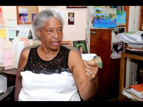 Erma Ridgard says that accessing the beach via the formal entrance is a challenge, especially for elderly residents.