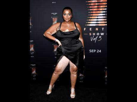 High off her appearance in Savage X Fenty Show Vol. 3, model Janay Watson wowed on the black carpet and showed some skin in a body-hugging number with a high split.